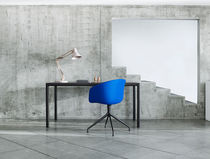 Contemporary visitor chair / with armrests / swivel / polypropylene
