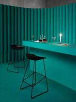Contemporary bar stool / polypropylene / upholstered