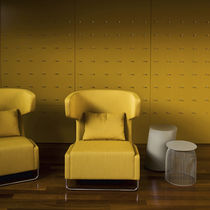 Visitor armchair / contemporary / high-back / wing