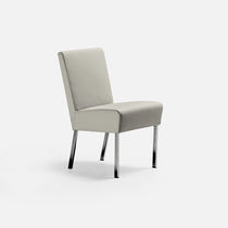 Contemporary chair / upholstered / fabric / metal