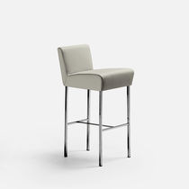Contemporary bar chair / upholstered / fabric / metal