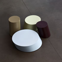 Side table / contemporary / sheet metal / painted steel