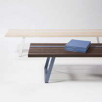 Contemporary bench / ash / steel