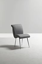 Contemporary chair / upholstered / central base / fabric