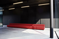 Semicircular sofa / contemporary / fabric / metal