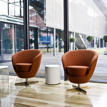 Visitor armchair / contemporary / swivel / star base