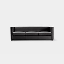 Contemporary sofa / leather / fabric / for public buildings