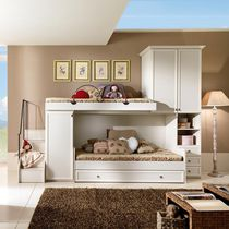 Bunk bed / single / traditional / with drawer