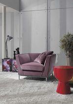 Contemporary armchair / steel