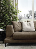 Modular sofa / contemporary / leather / 2-seater