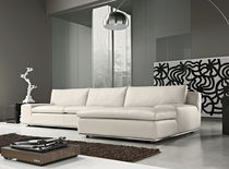 Corner sofa / contemporary / canvas / 2-seater