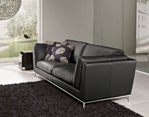 Modular sofa / corner / contemporary / leather