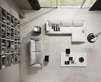 Modular sofa / corner / contemporary / steel