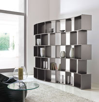 Modular bookcase / contemporary / wooden / lacquered wood