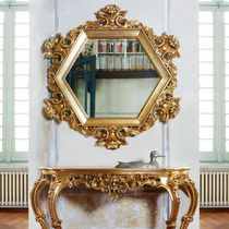 Wall-mounted mirror / classic / for hotels / metal