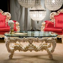 Classic coffee table / crystal / rectangular / for hotels
