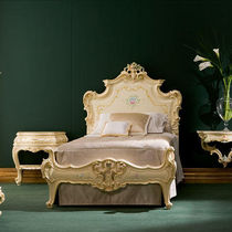 Double bed / single / classic / with upholstered headboard