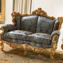 Classic sofa / fabric / 2-seater / anthracite