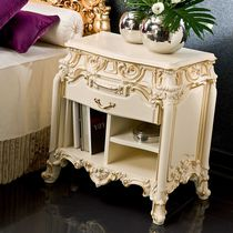 Classic bedside table / wooden / rectangular / for hotels