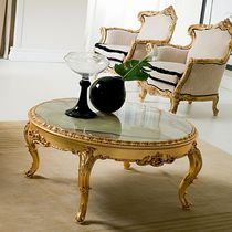 Classic coffee table / marble / round / for hotels