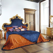 Double bed / New Baroque design / upholstered / fabric