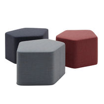 Contemporary pouf / fabric / black / gray