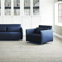 Contemporary armchair / fabric / bed / with removable cover