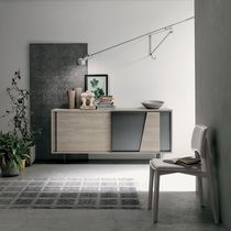 Contemporary sideboard / iron / painted metal / laminate