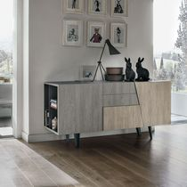 Contemporary sideboard / wooden / painted metal / laminate