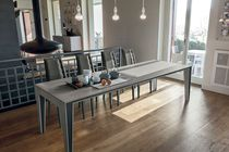 Dining table / contemporary / metal / laminate