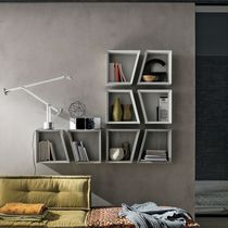 Wall-mounted shelf / contemporary / laminate