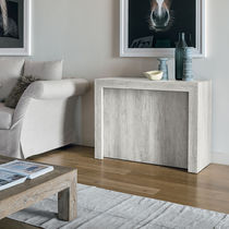 Contemporary sideboard table / laminate / rectangular / extending