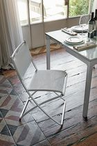 Contemporary chair / metal / plastic / painted metal
