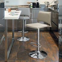 Contemporary bar chair / polypropylene / adjustable / upholstered