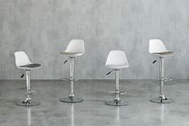 Bar chair / contemporary / polypropylene / chrome steel