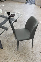 Contemporary dining chair / fabric / upholstered