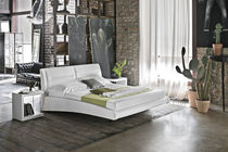 Double bed / king size / contemporary / fabric