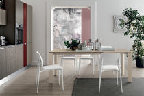 Dining table / contemporary / porcelain stoneware / laminate