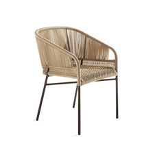 Contemporary chair / with armrests / fabric / synthetic fiber