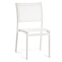 Contemporary garden chair / aluminum / Batyline® / white