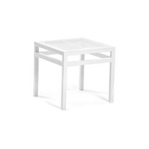 Contemporary side table / polyethylene / HPL / aluminum