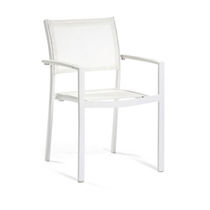 Contemporary garden chair / with armrests / aluminum / Batyline®