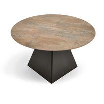 Contemporary table / steel / square / garden