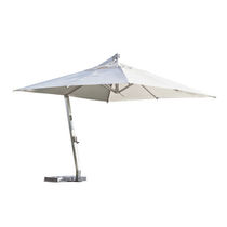 Offset patio umbrella / stainless steel / aluminum