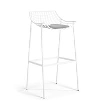 Contemporary bar chair / powder-coated steel / by Christophe Pillet / outdoor