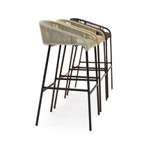 Contemporary bar chair / aluminum / synthetic fiber / commercial