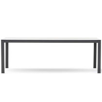 Contemporary dining table / painted aluminum / HPL / rectangular