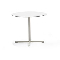 Stainless steel table base / contemporary / commercial