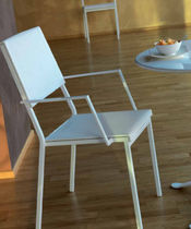 Contemporary chair / water-resistant fabric / metal / garden