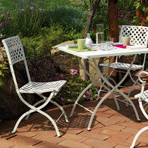 Traditional chair / water-resistant fabric / garden / stackable